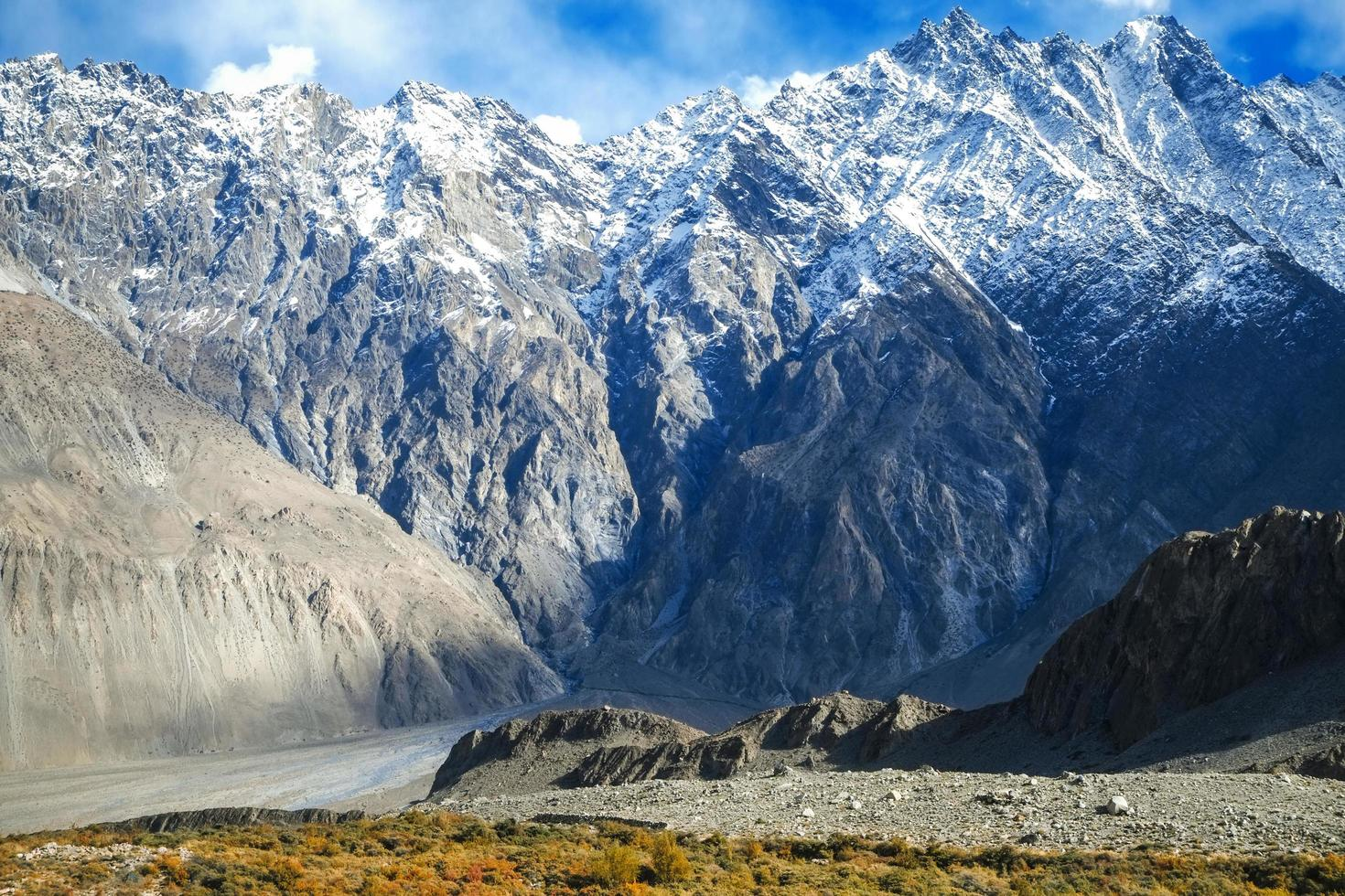 Snow capped mountains in Karakoram range in Pakistan photo