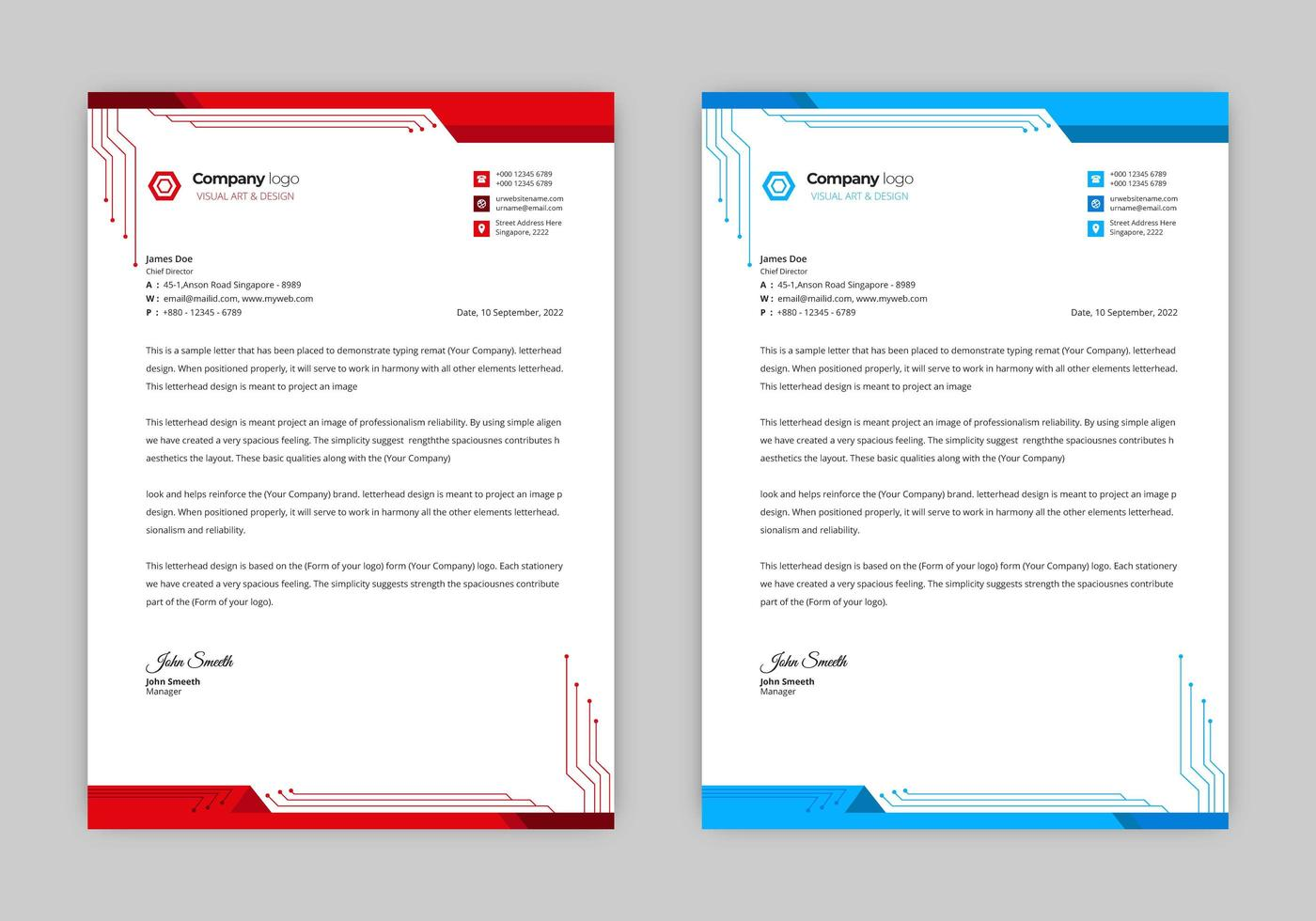 Futuristic Tech Letterhead Design Download Free Vectors Clipart Graphics Vector Art