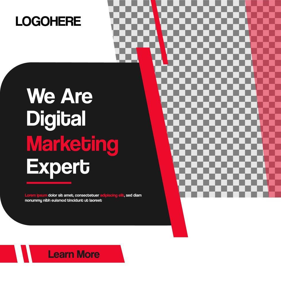 modèle de bannière de marketing numérique vecteur