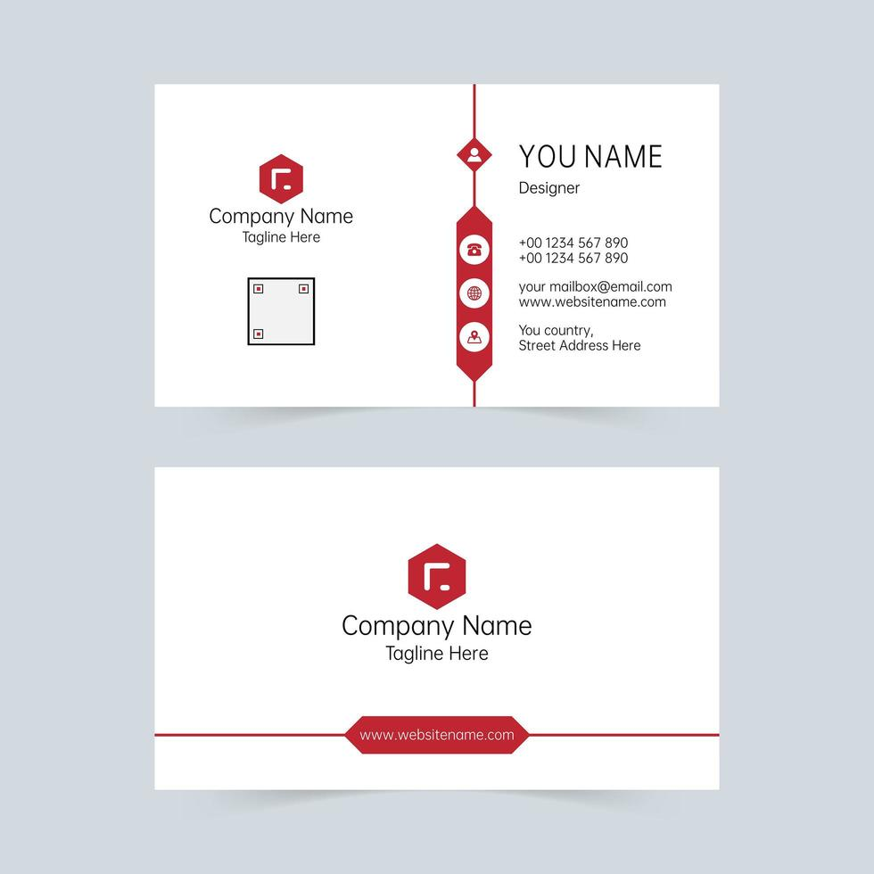 Creative company universal business card template  vector