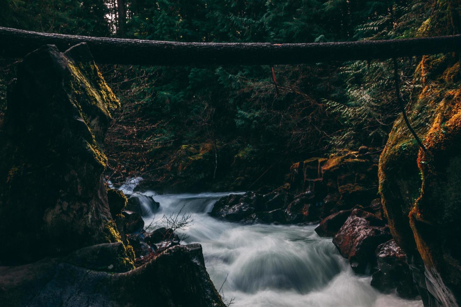 Scenery of water falls photo