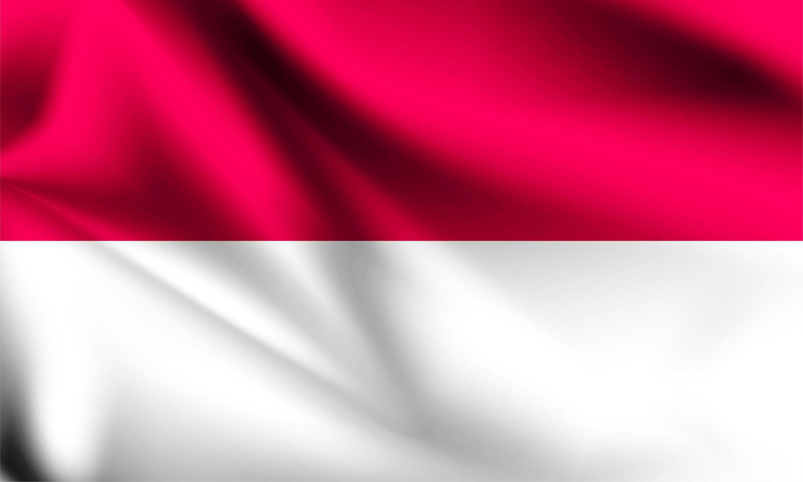 drapeau 3d indonésie vecteur