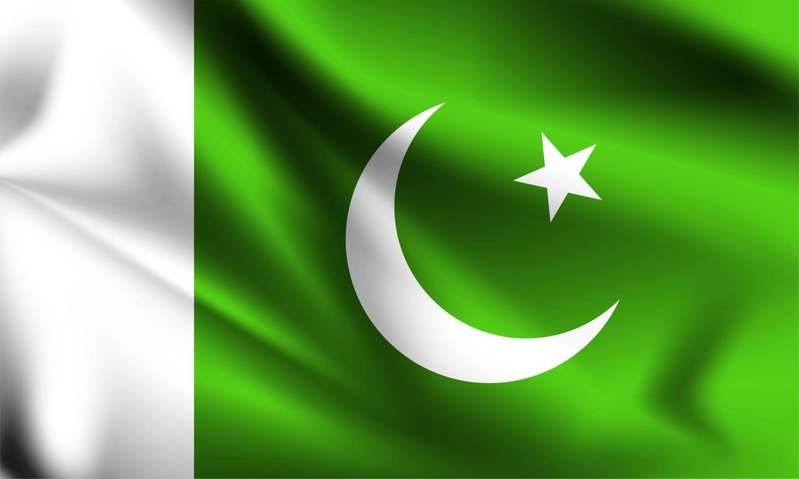 Pakistan 3d flag  vector