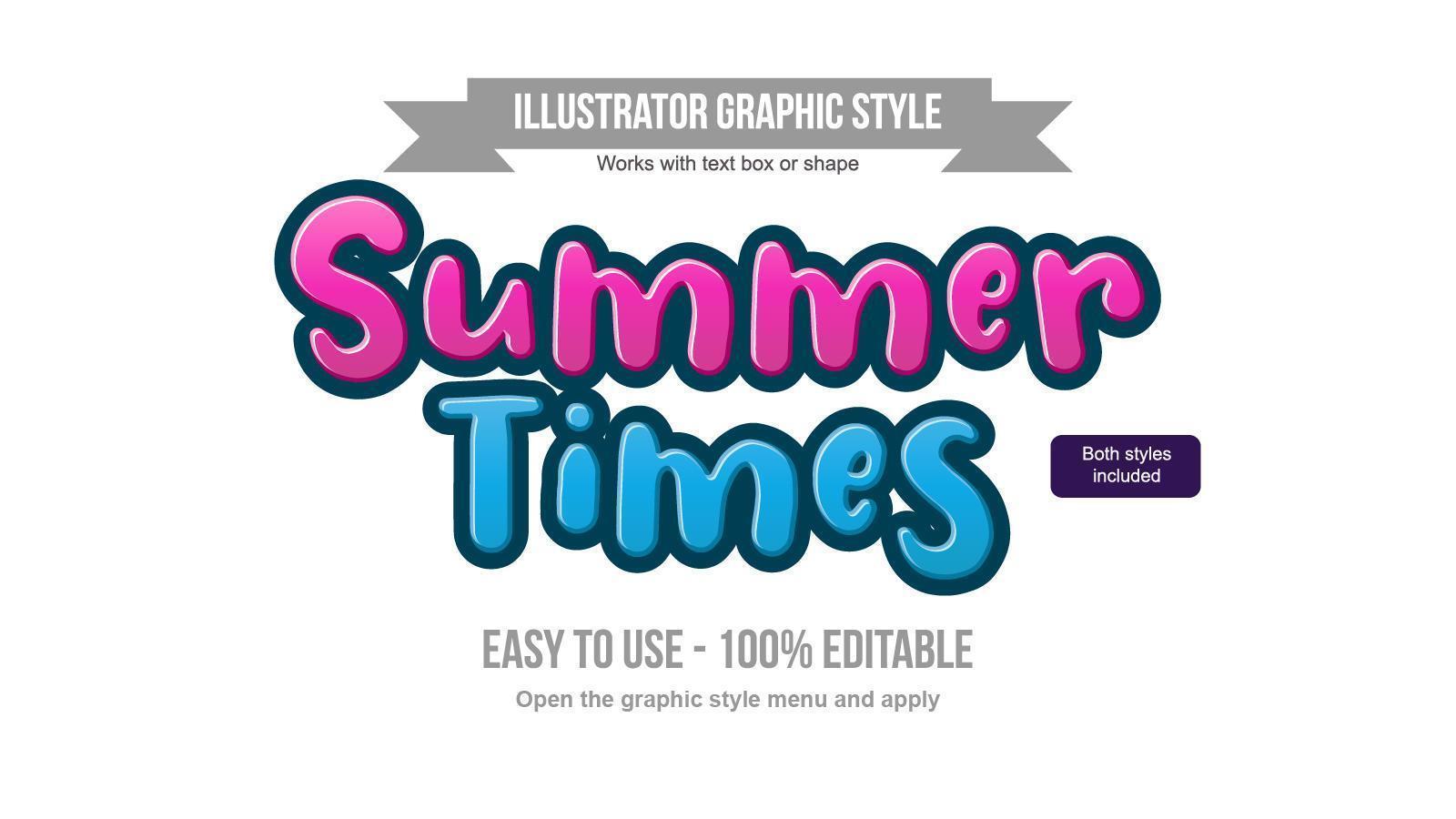 efectos de texto de dibujos animados en negrita azul y rosa vector
