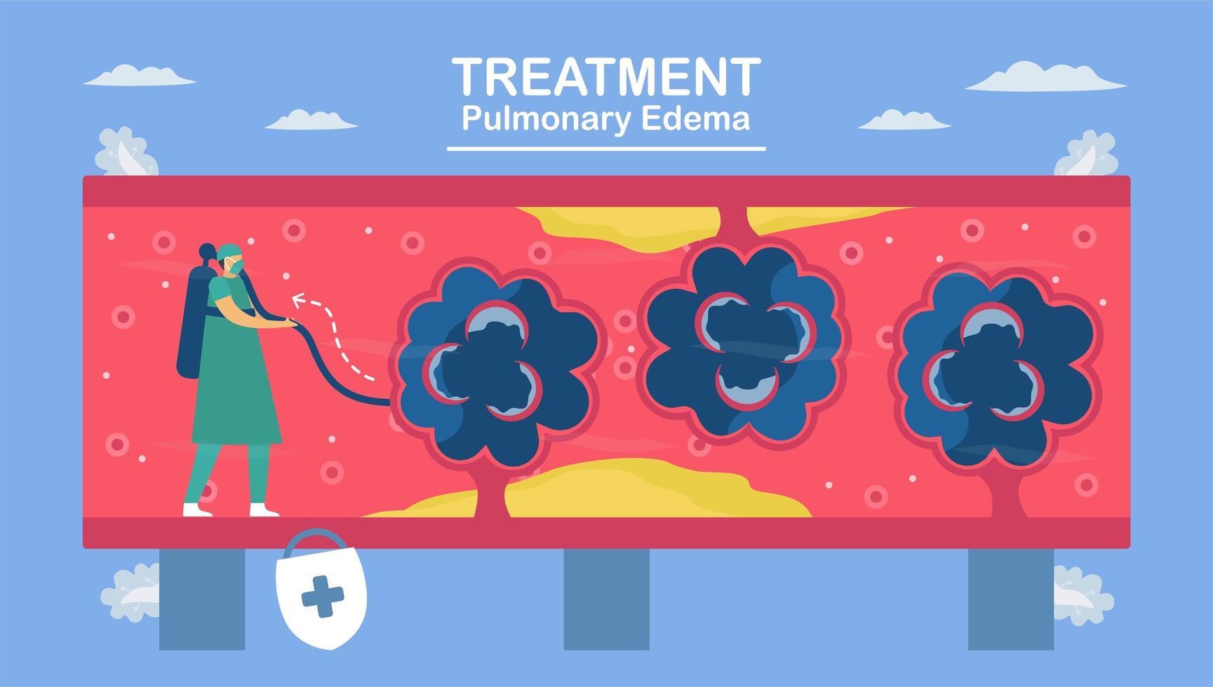 Pulmonary edema is symptom. vector