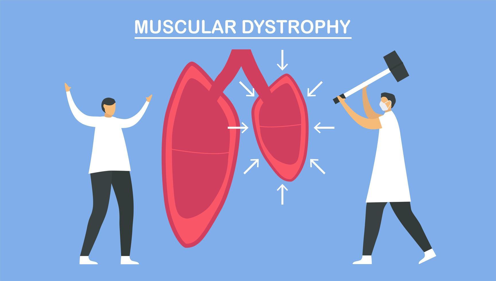 Muscular dystrophy is diseases  vector