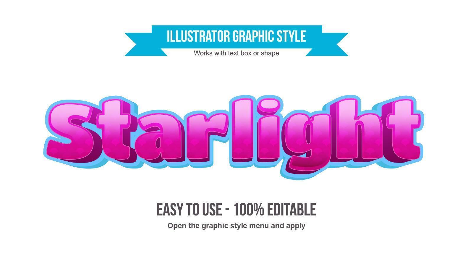 efecto de texto 3d de dibujos animados rosa y azul vector
