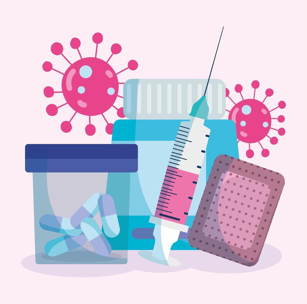 elementos de suministros médicos vector