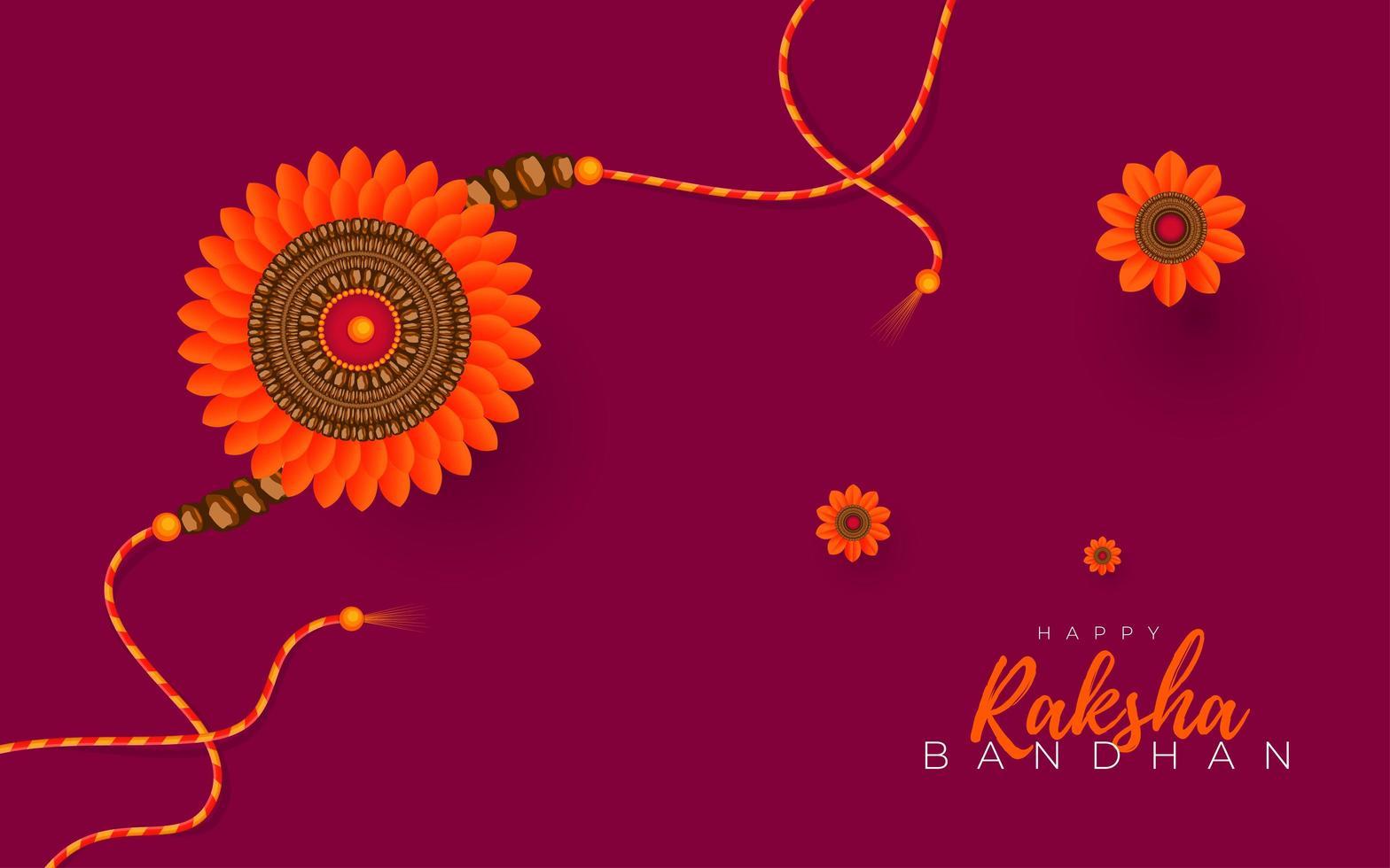 diseño feliz de raksha bandhan vector