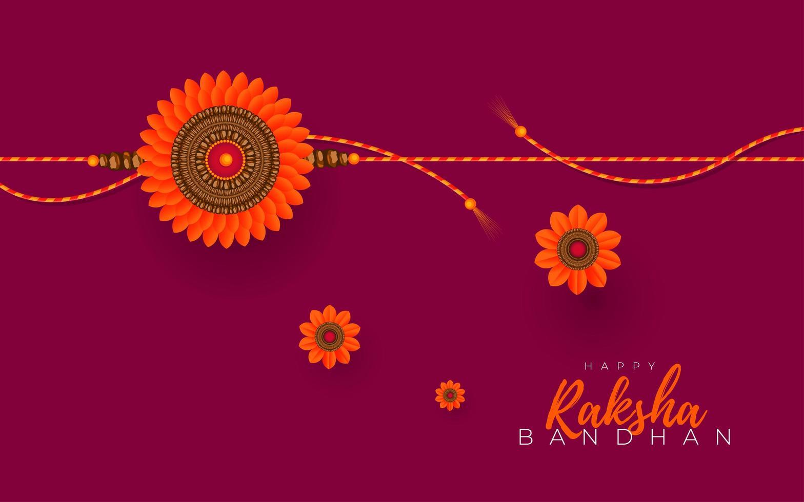 diseño de tarjeta de felicitación de raksha bandhan vector