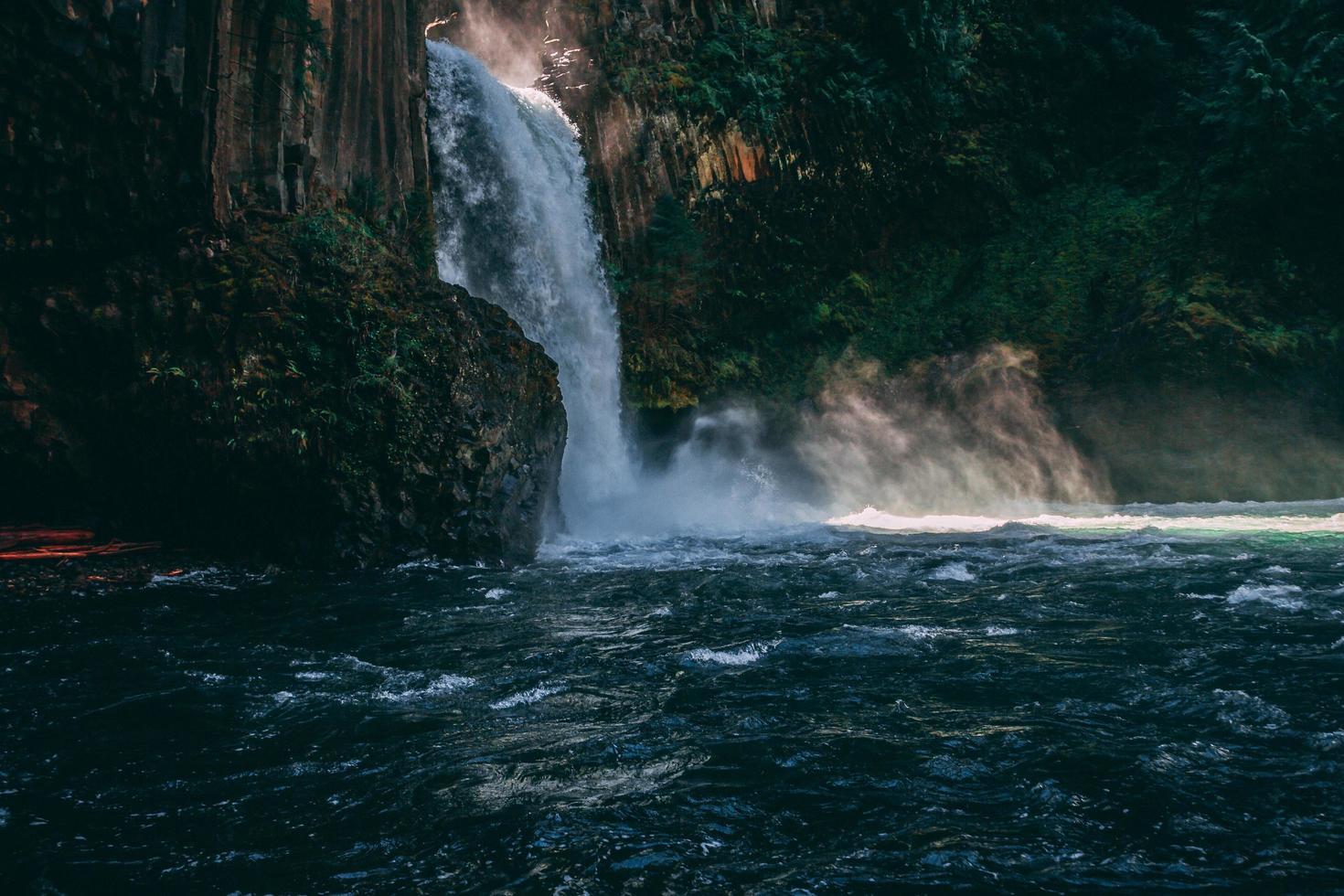 Waterfall close up photo