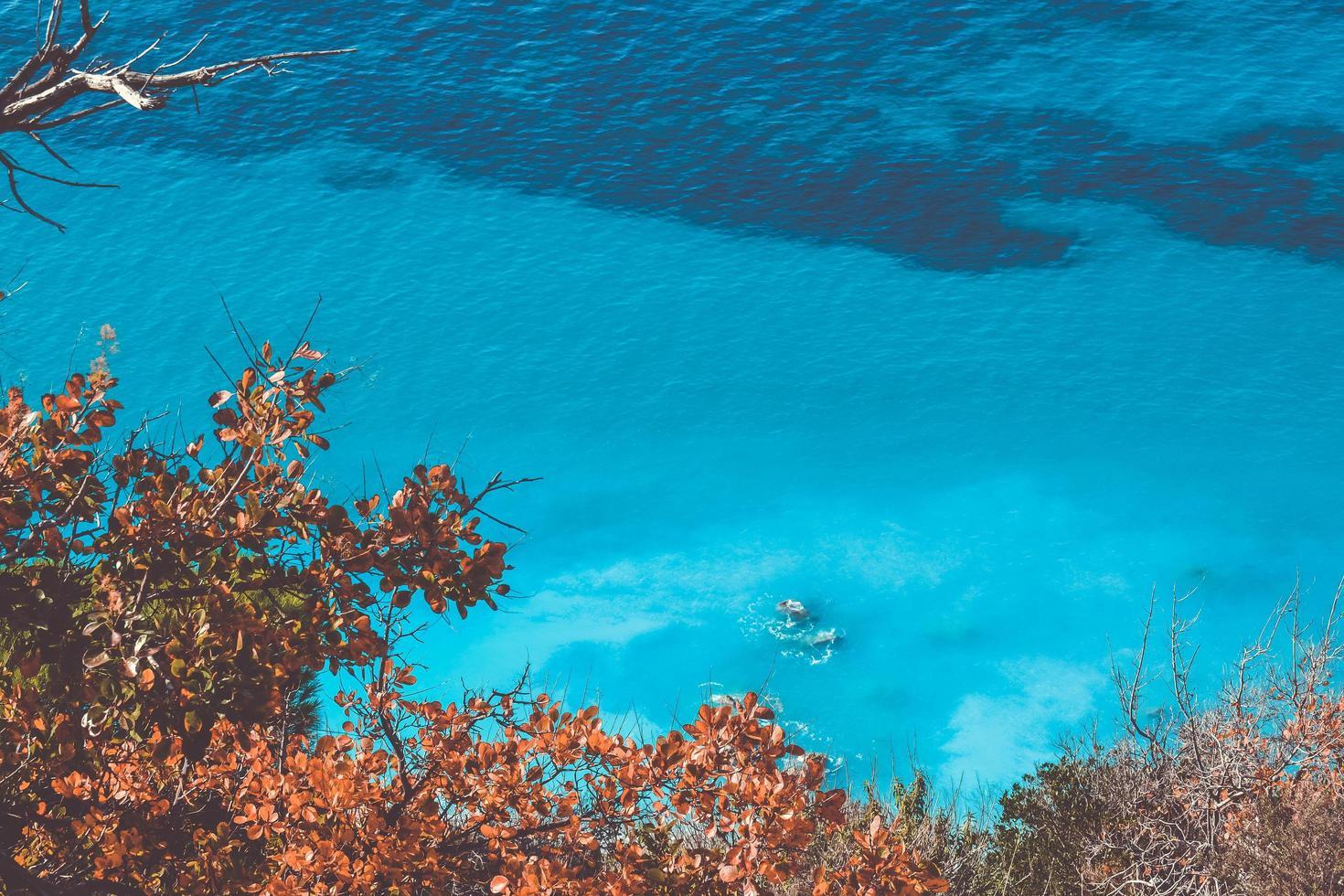 Blue ocean waters photo