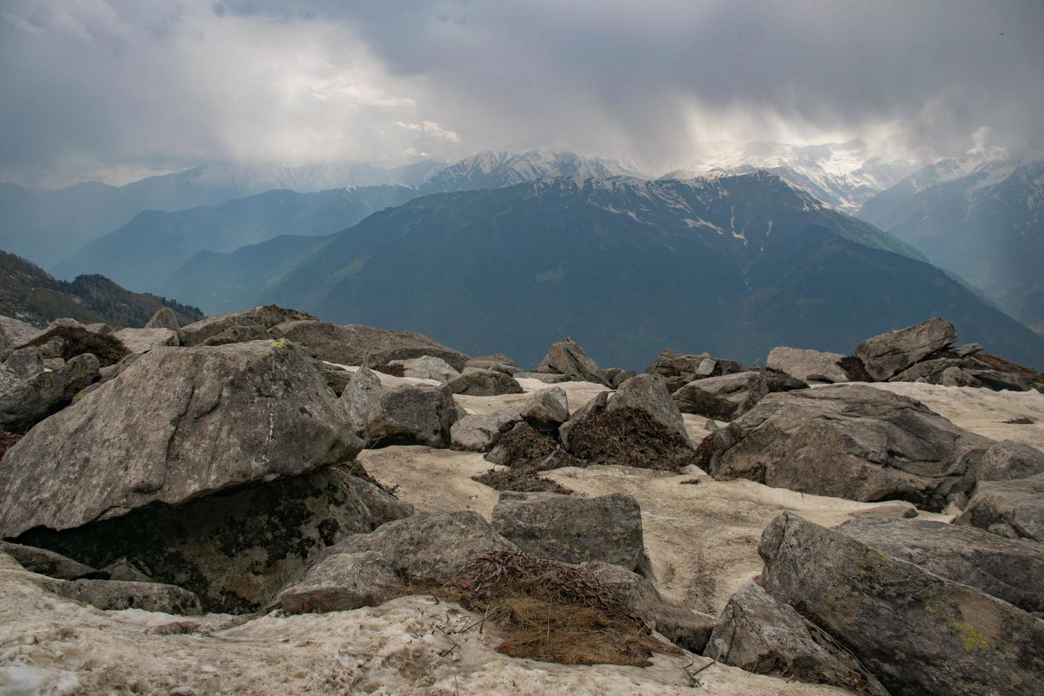 Mountain vista view photo