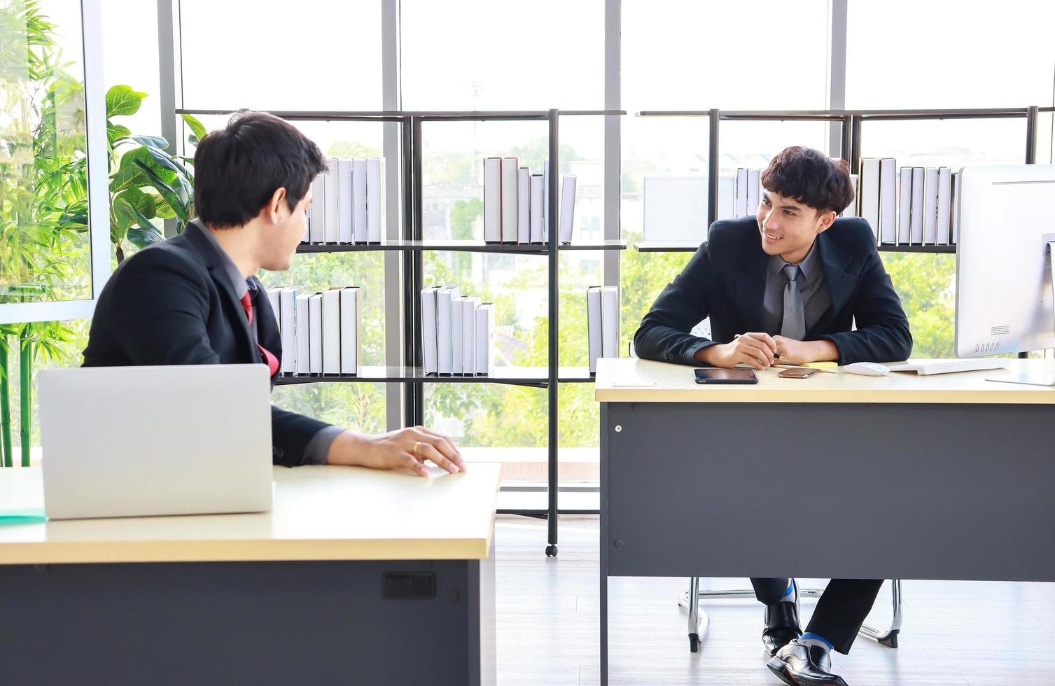 New young businessmen at office photo