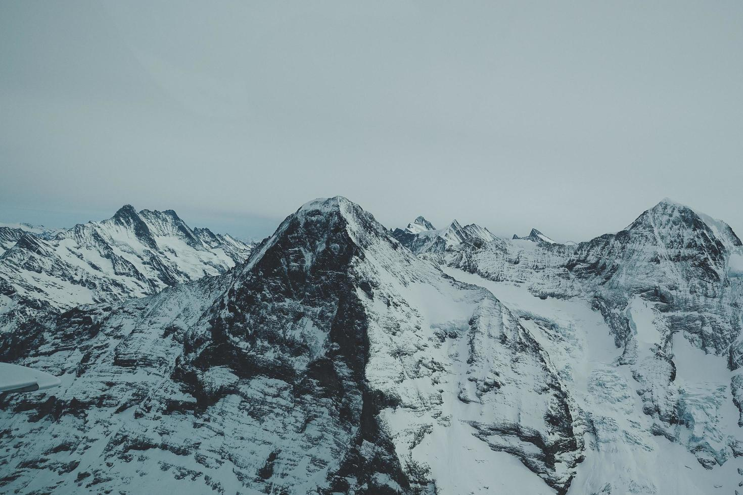 Mountain covered with snow photo