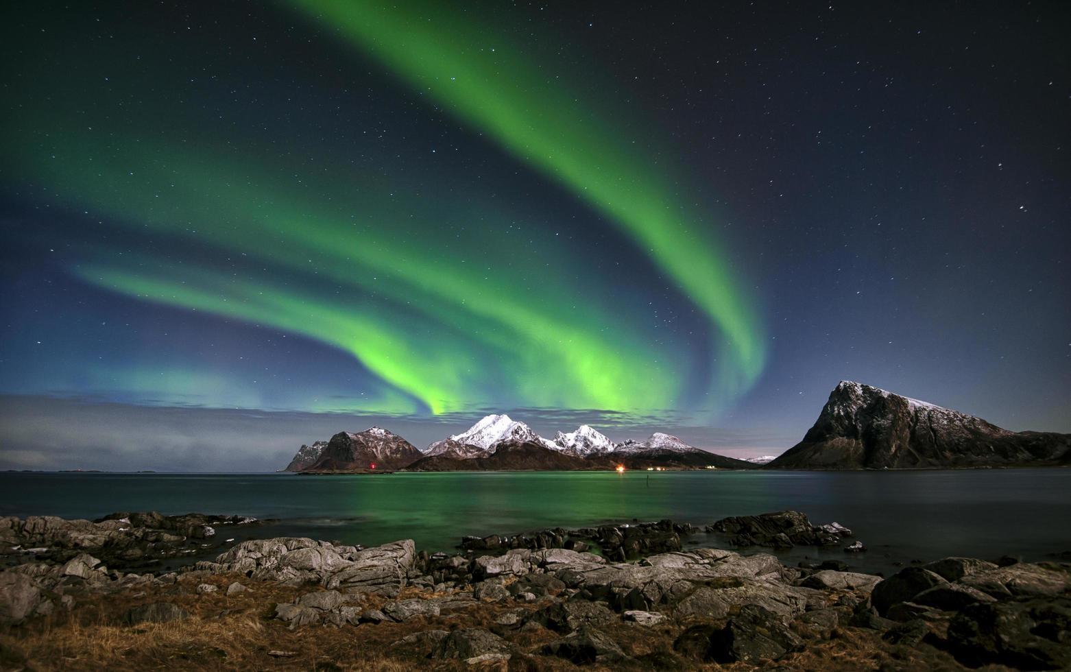 aurora boreal en noruega foto