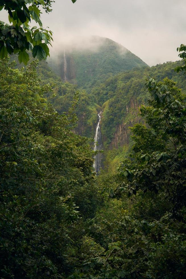 Waterfalls in mountain photo