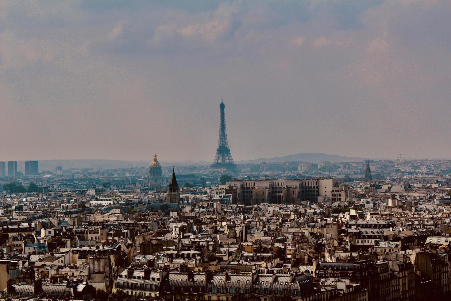 Horizonte de la ciudad de París, Francia foto