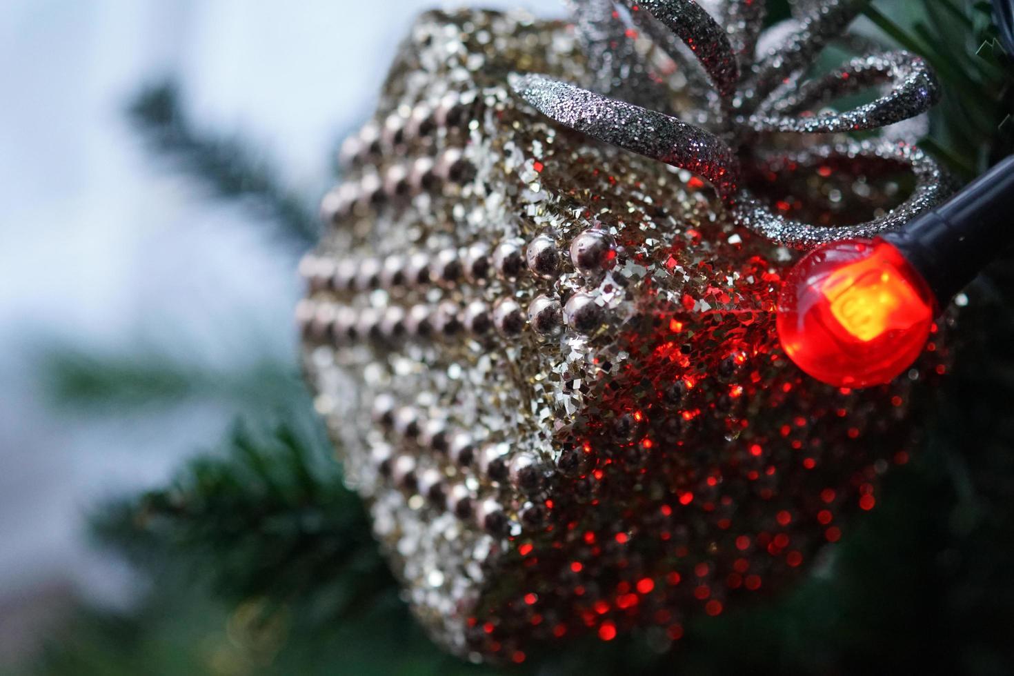 vista de cerca del árbol de navidad foto