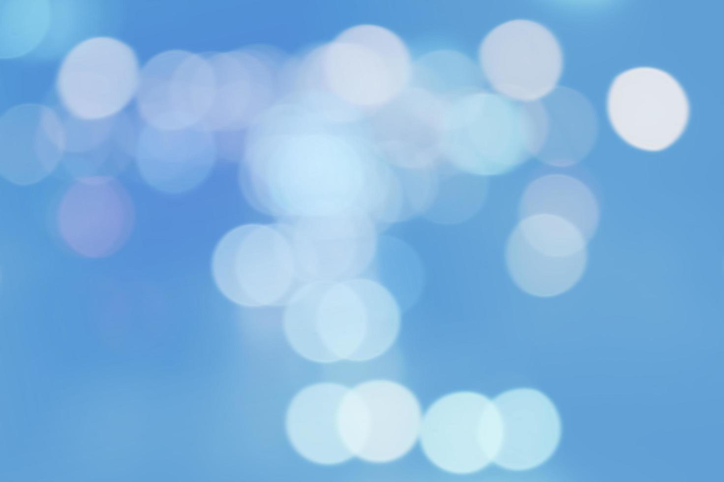 Abstract blue bokeh photo