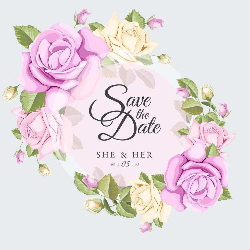 Save the date wedding emblem vector