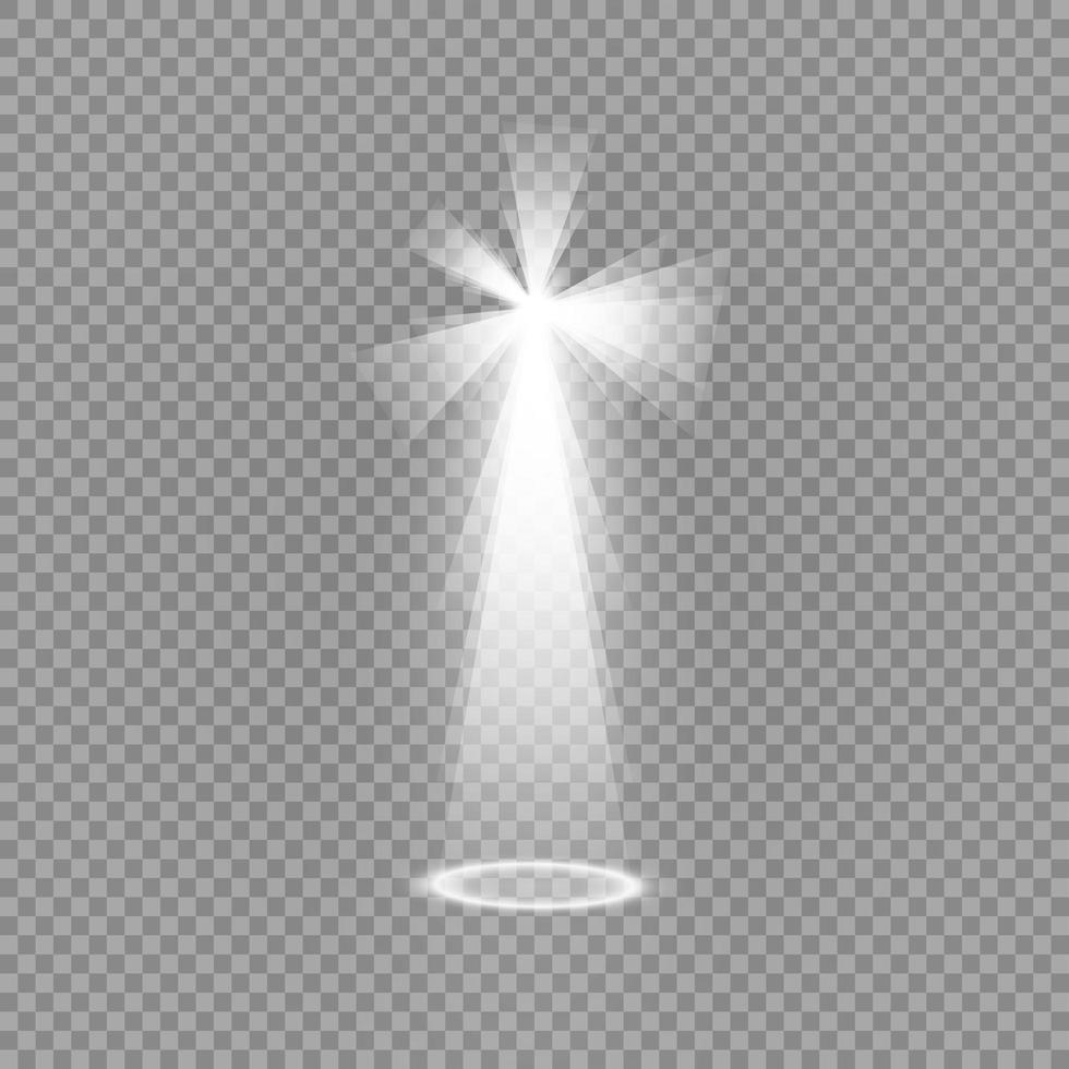 Concert spotlight with beam vector
