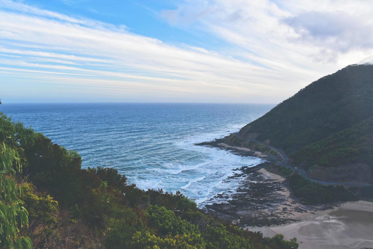 Coastal mountain range photo