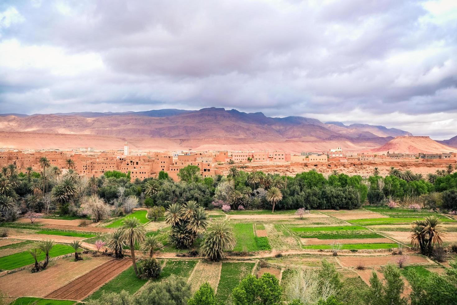 Landscape view of Tinghir City photo
