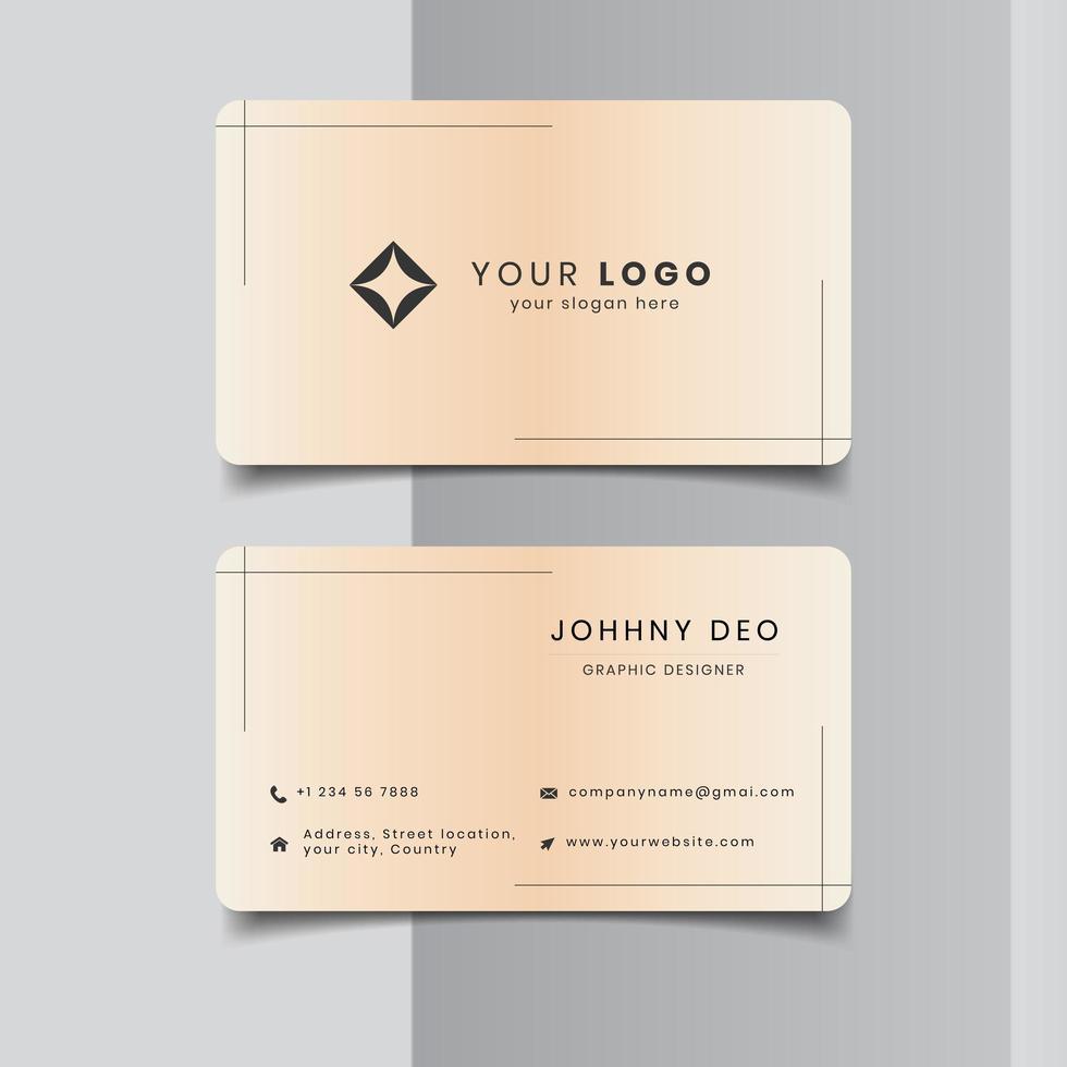 Antique color business card design vector