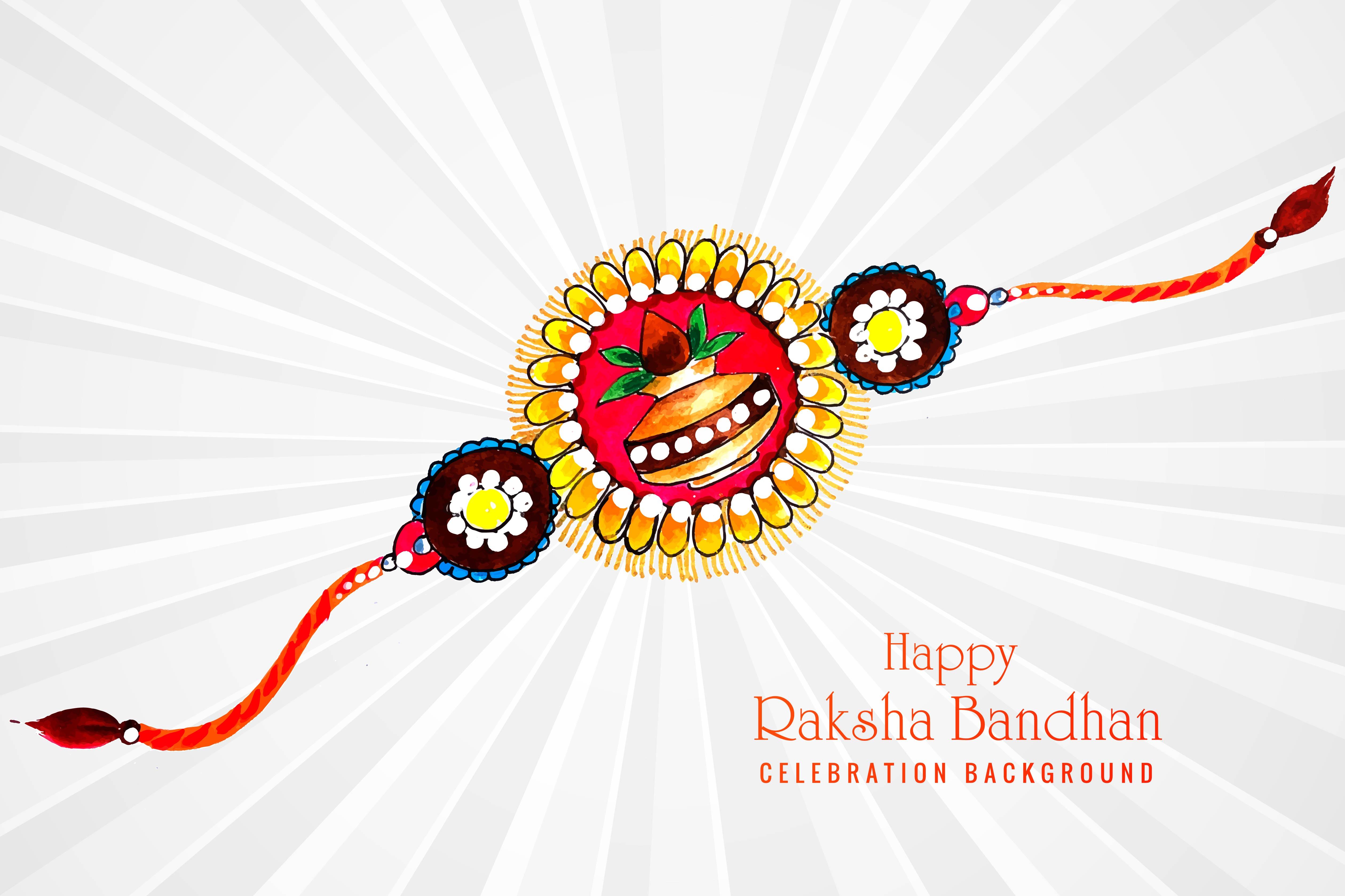raksha bandhan greeting card design  download free