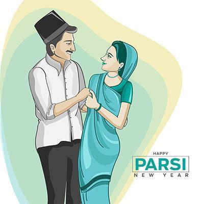 Parsi New Year celebration vector