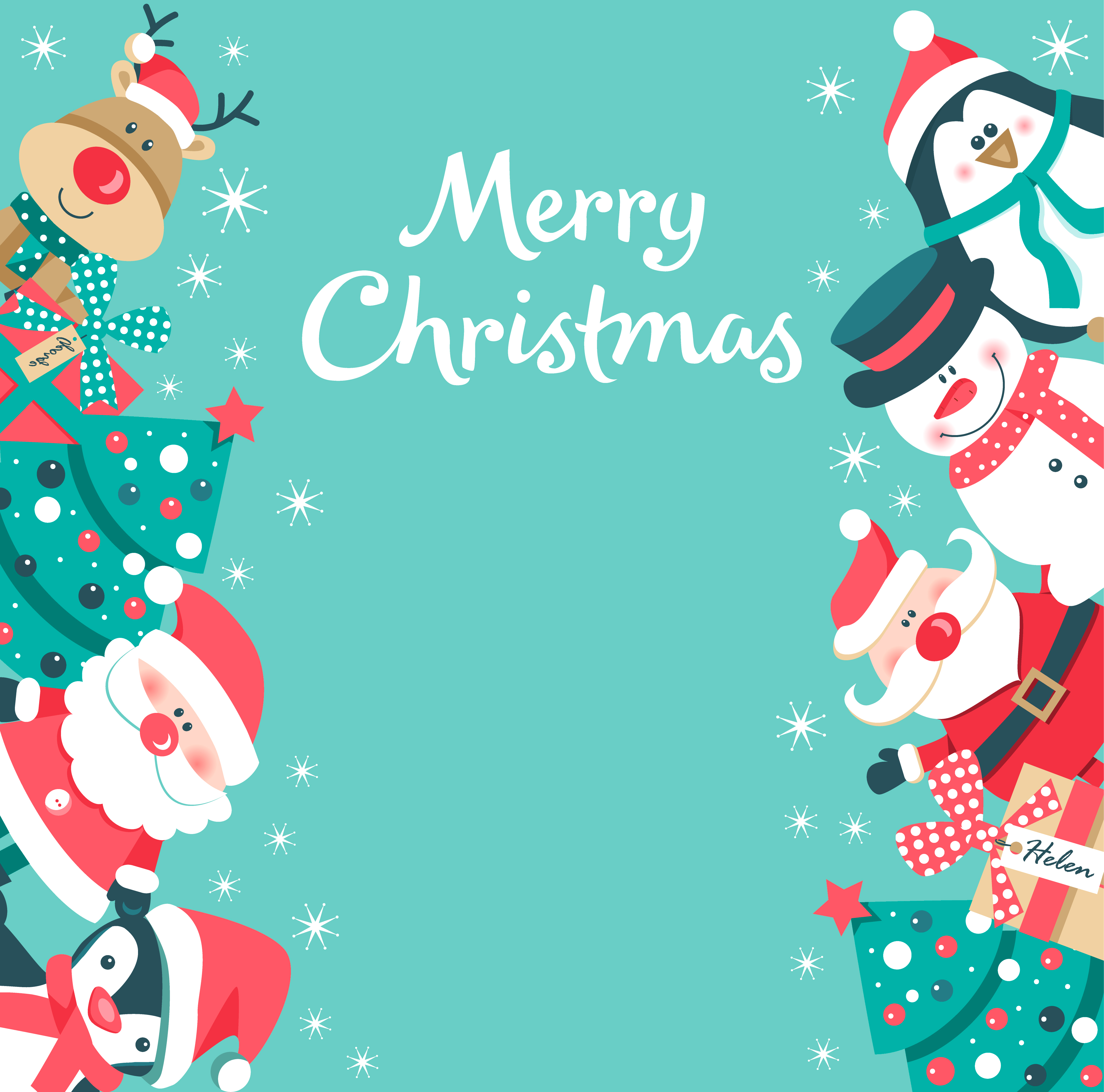 Green Christmas Background - Download Free Vectors ...