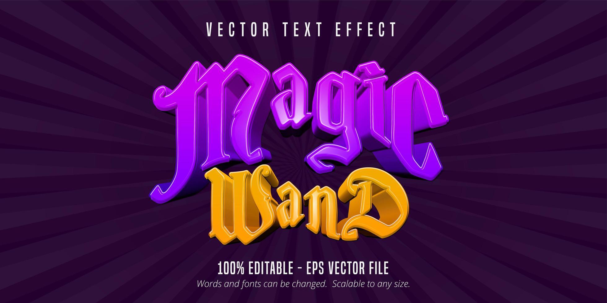 Magic wand text  vector