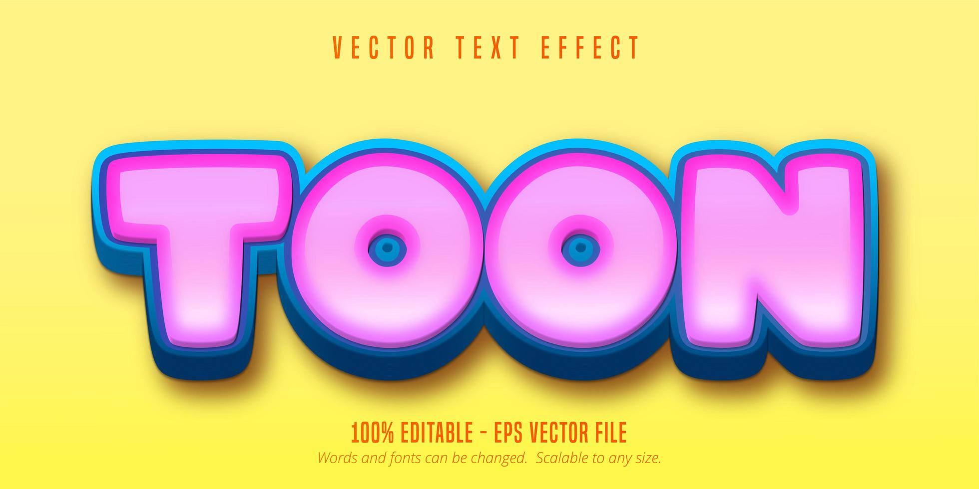 efecto de texto en negrita vector