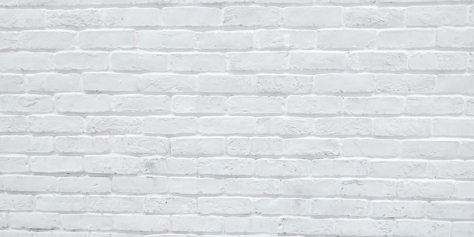 pared de ladrillo blanco moderno foto