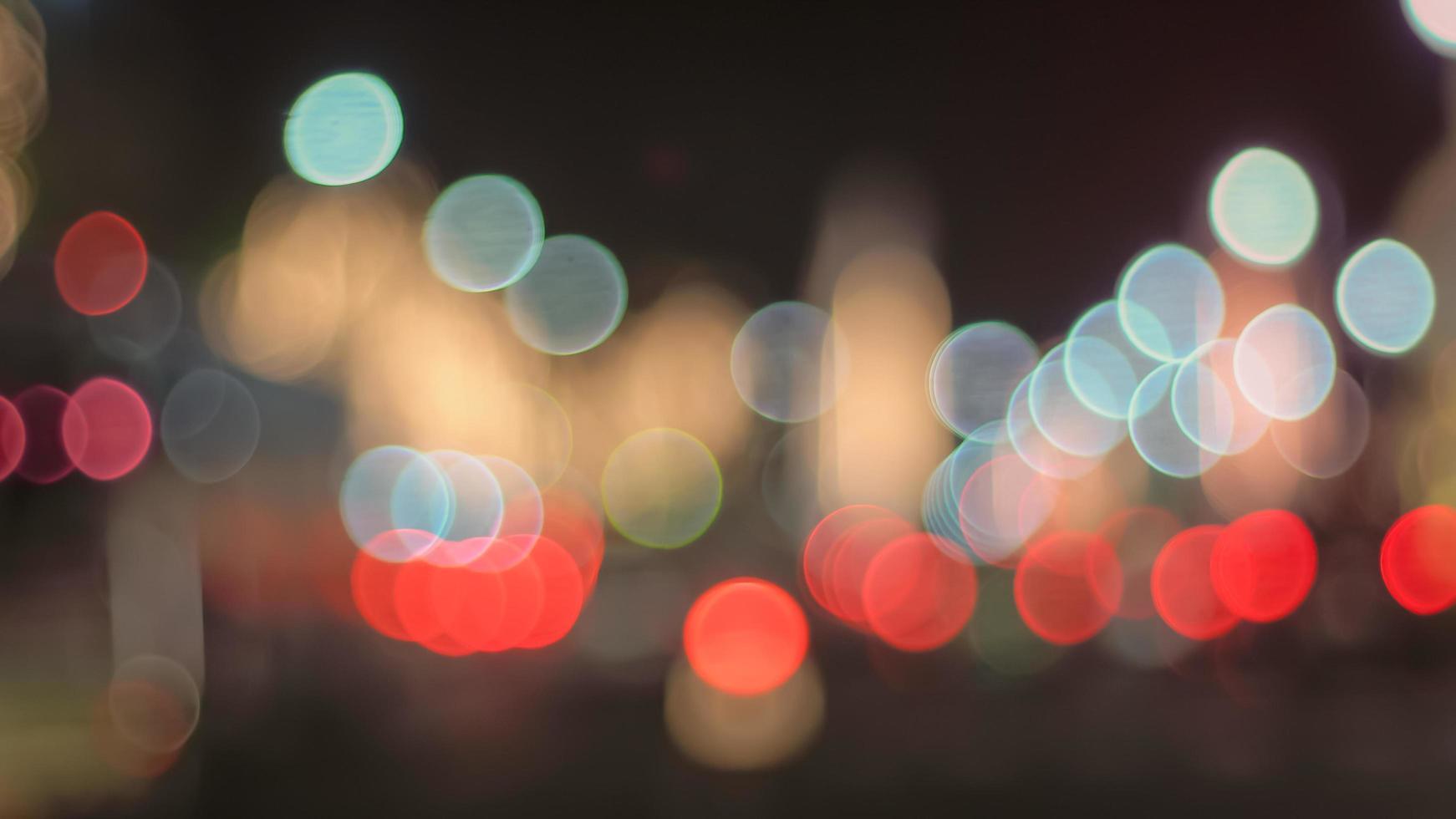 Defocused city street lights photo