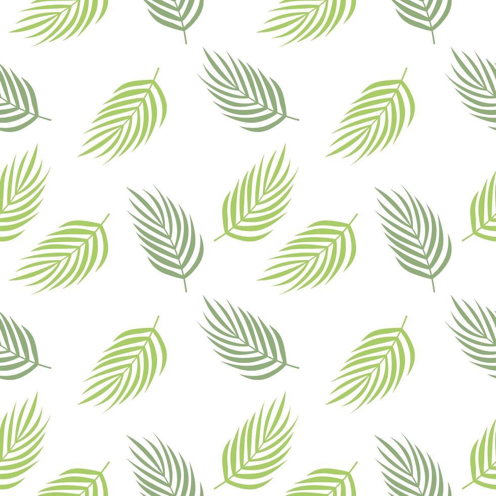 patrón repetido de hojas tropicales vector