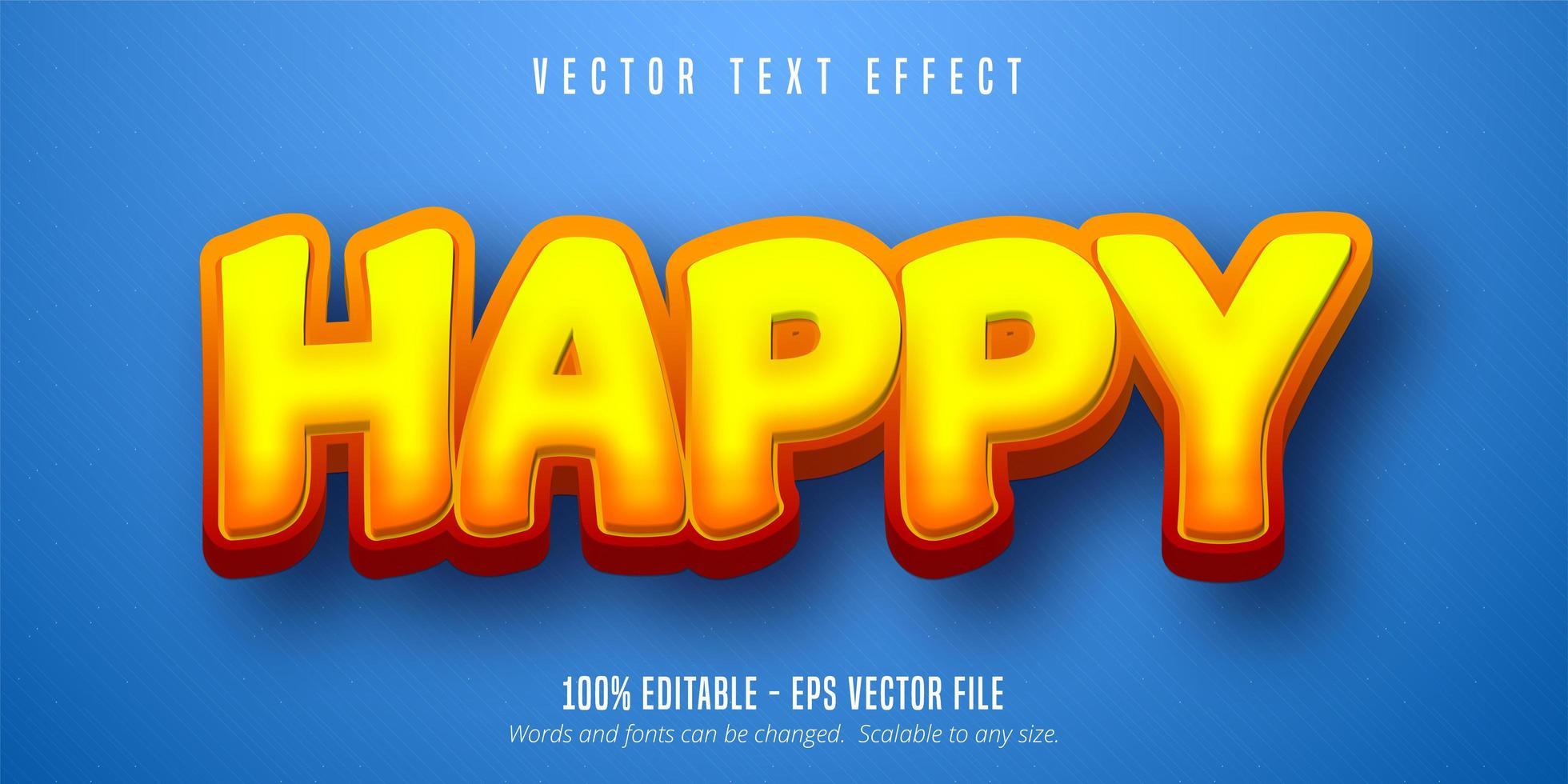 Gradient happy text vector