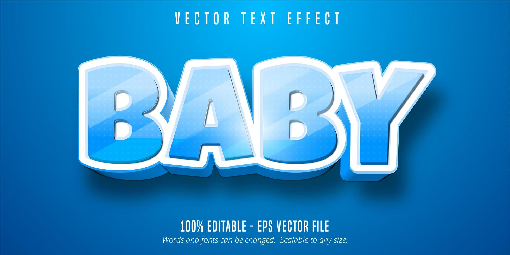 Blue baby text vector