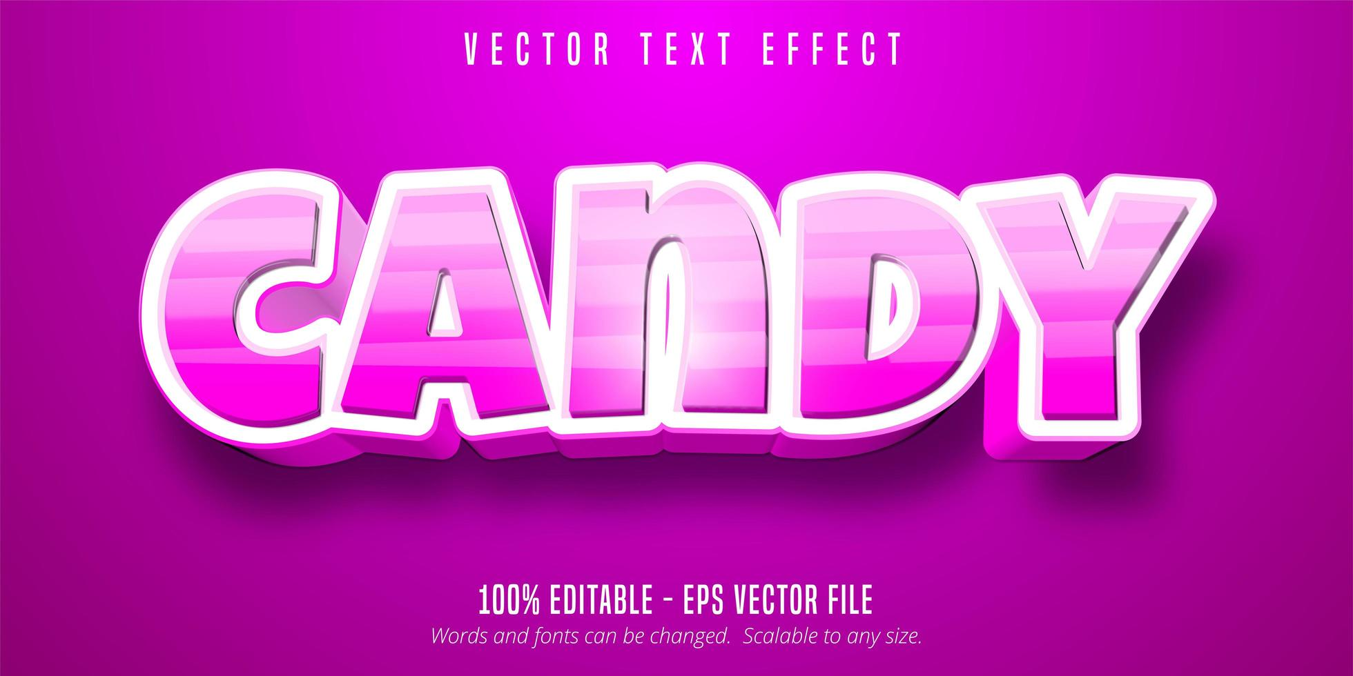 Striped candy text vector