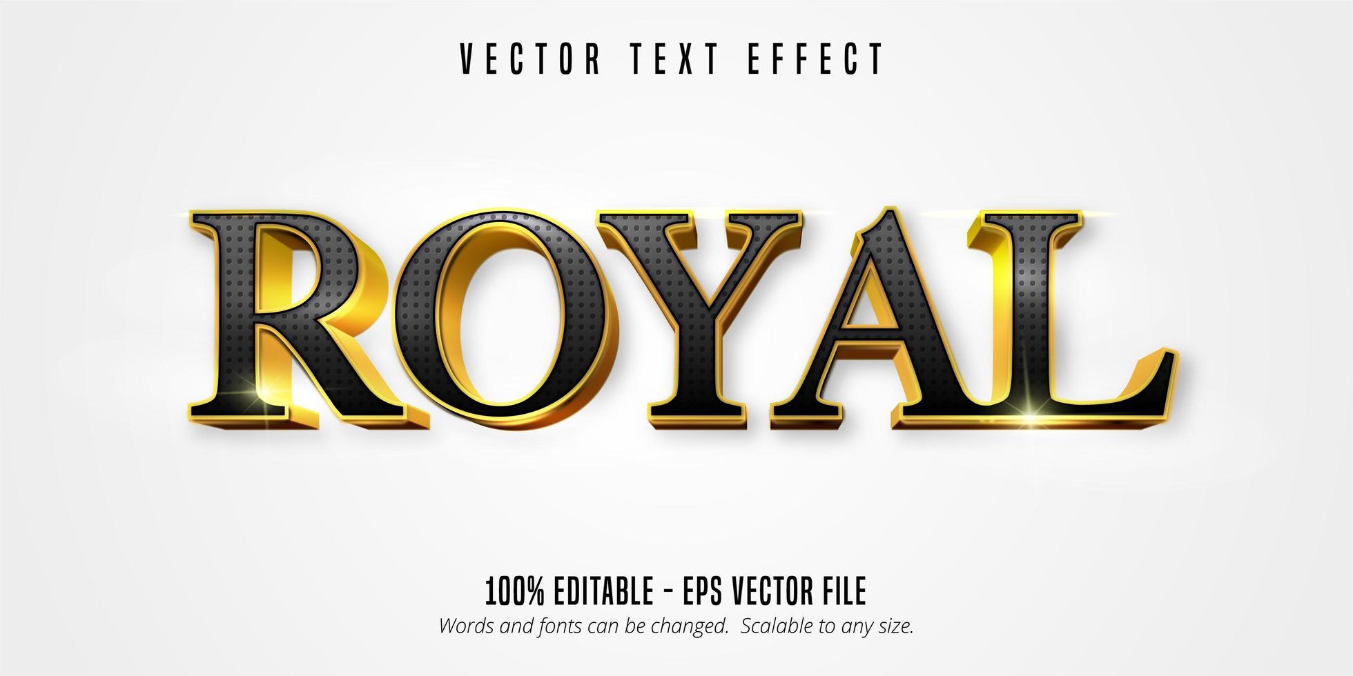 estilo real de oro brillante vector