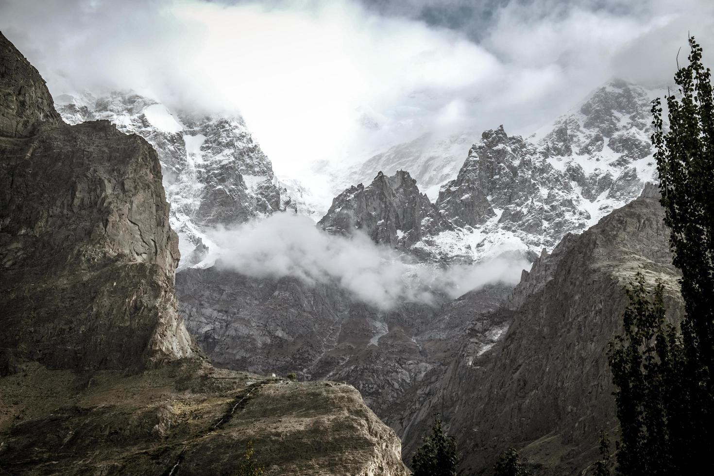 Snow capped Ultar Sar Mountain  photo