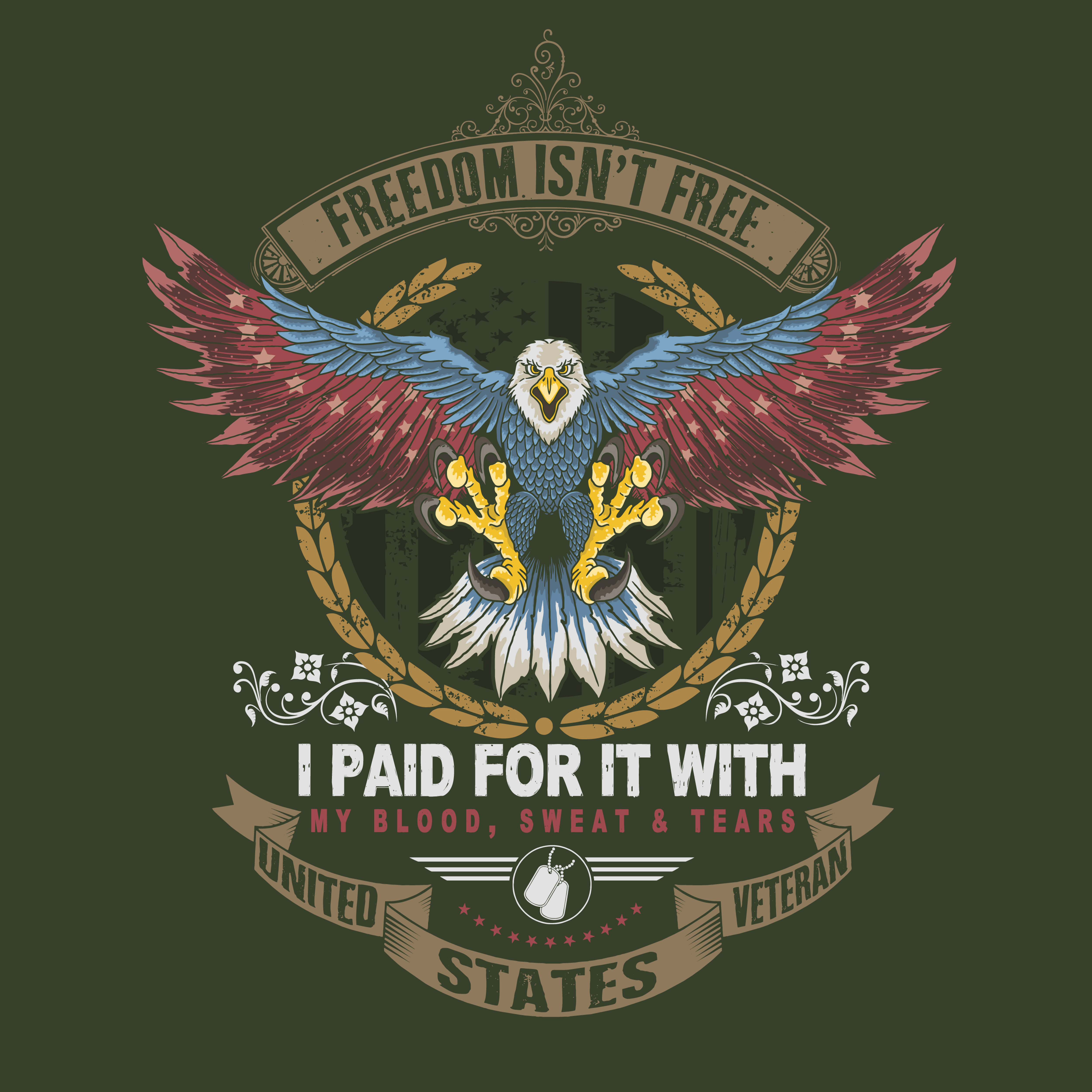 Freedom isn't free America eagle veteran design - Download ...