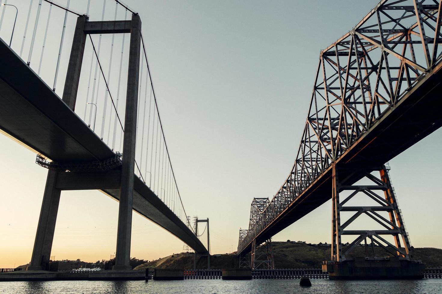 Gray steel bridge  photo