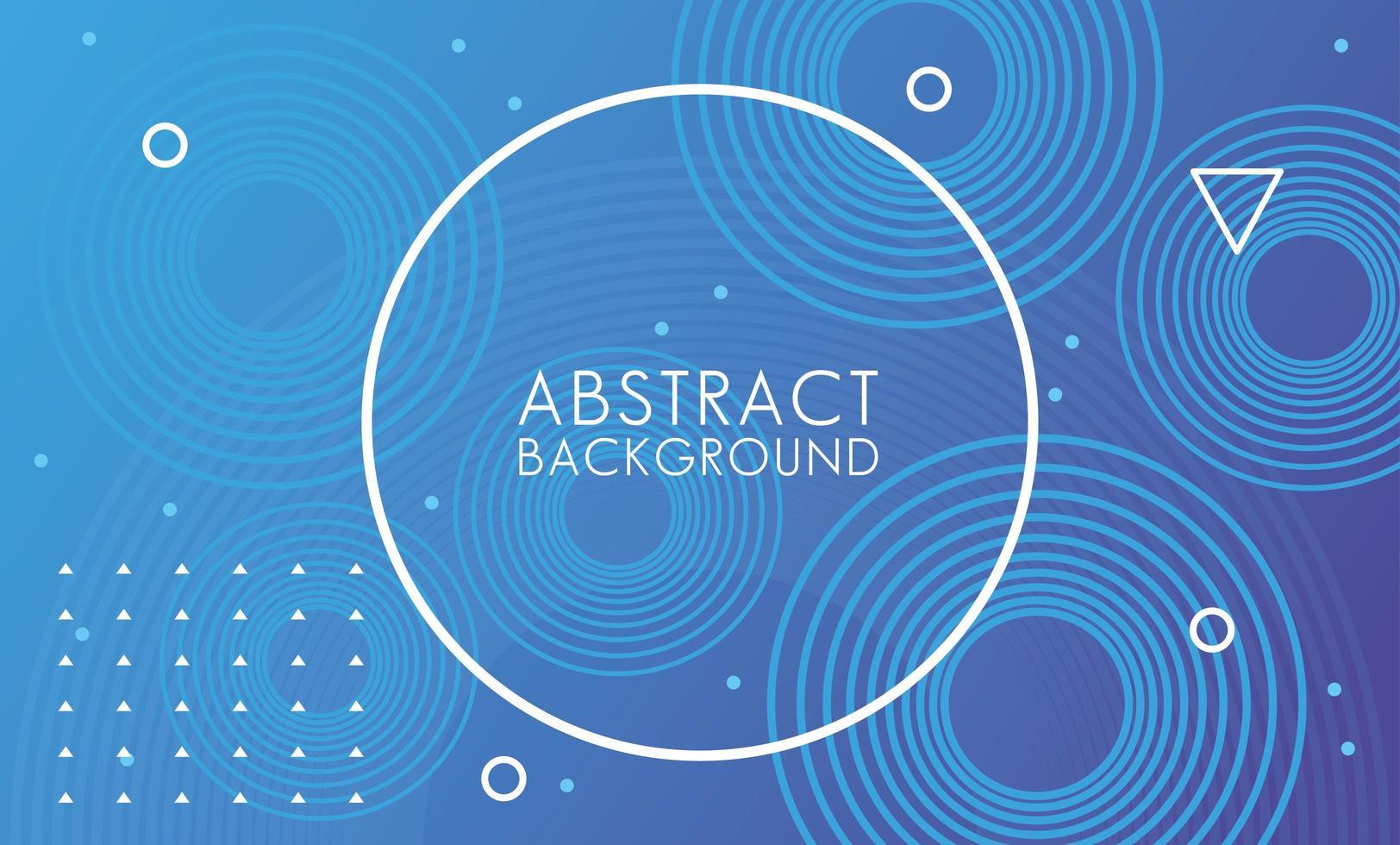 blauer kreisförmiger Rahmen abstrakter Hintergrund vektor