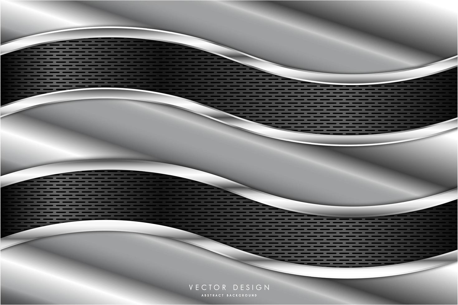 Metallic angled textures with wavy carbon fiber panels vector