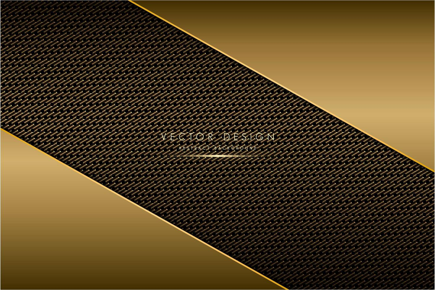 Metallic angled plates with carbon fiber texture vector
