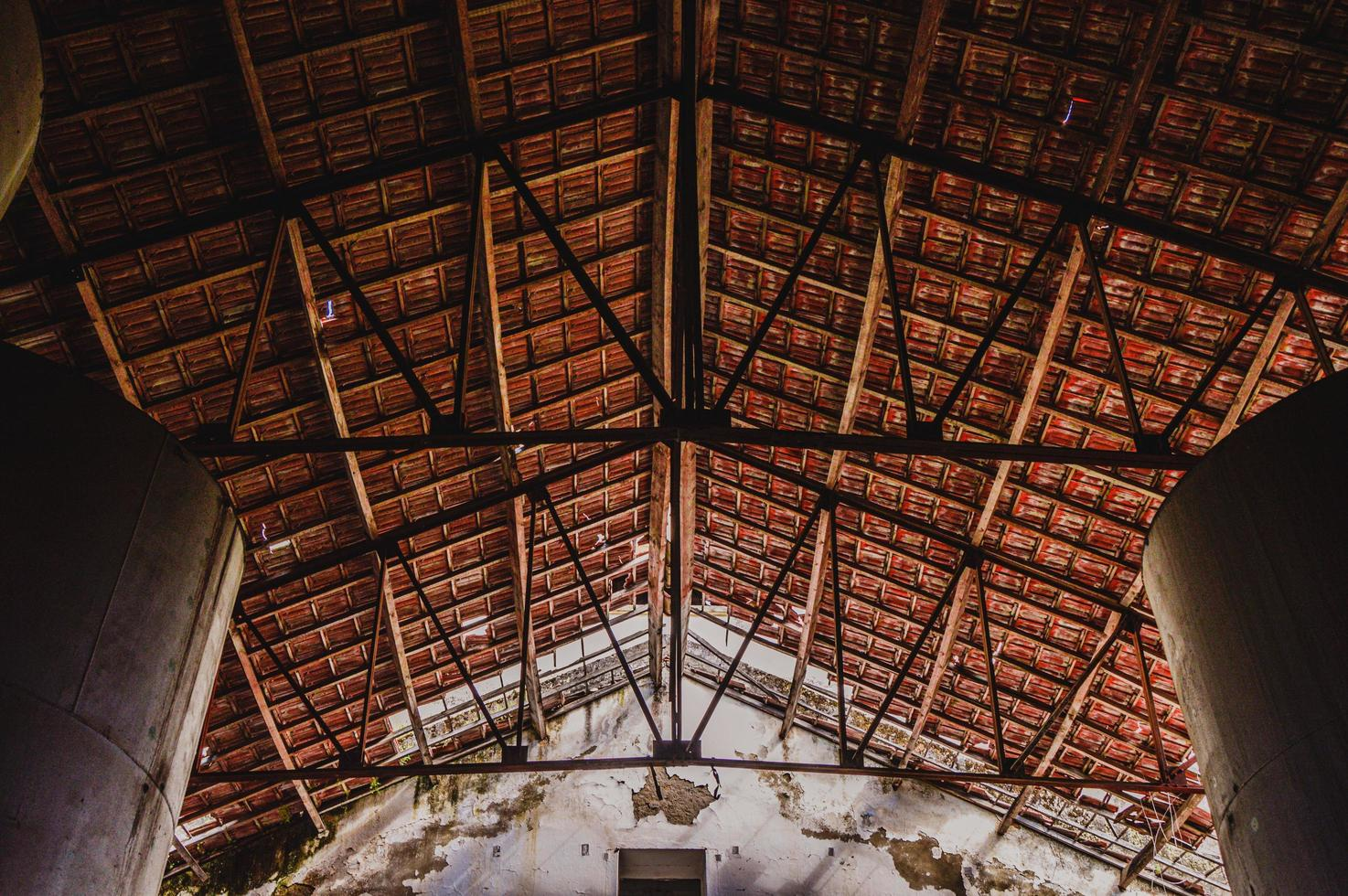 Low angle view of roof photo