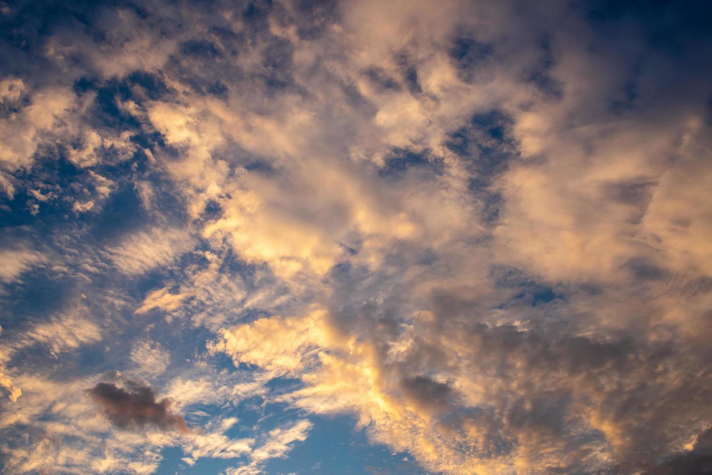 Golden hour sky photo