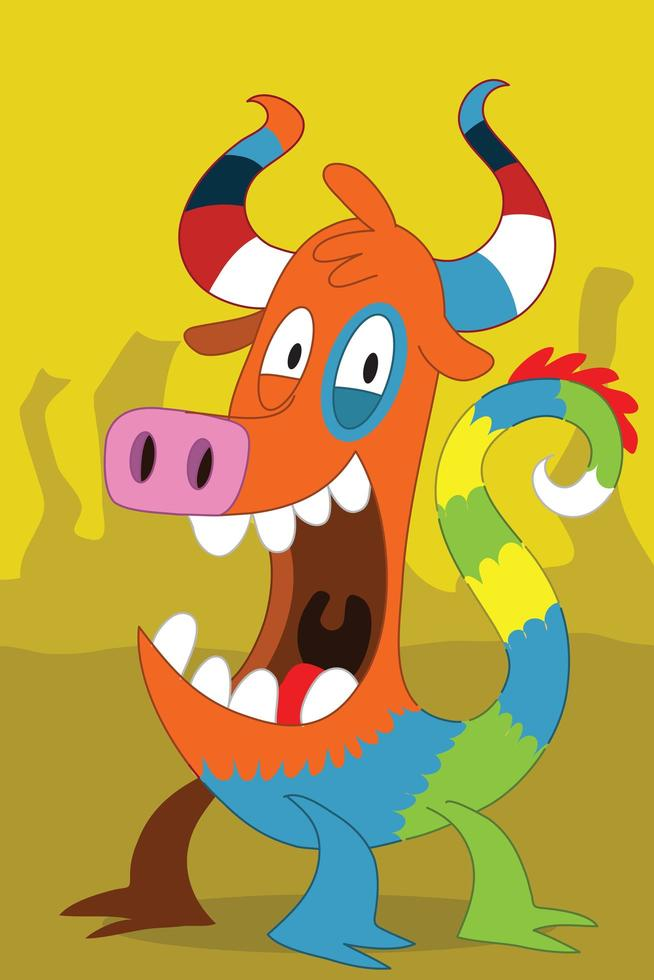 Taurus pig-like alien monster  vector